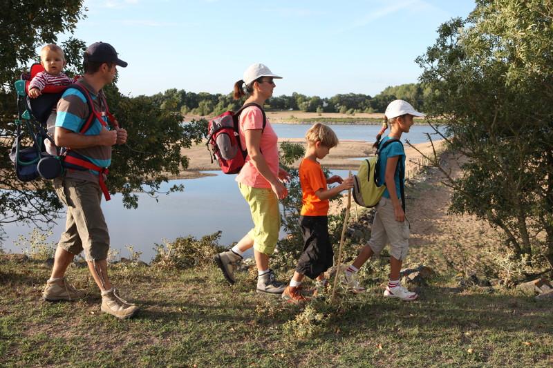 Wandelingen aan de oever van de Loire